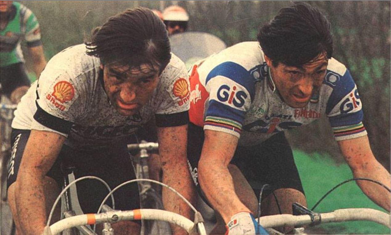 1983 Duclos-Lassalle Gilbert Francesco Moser Paris Roubaix.