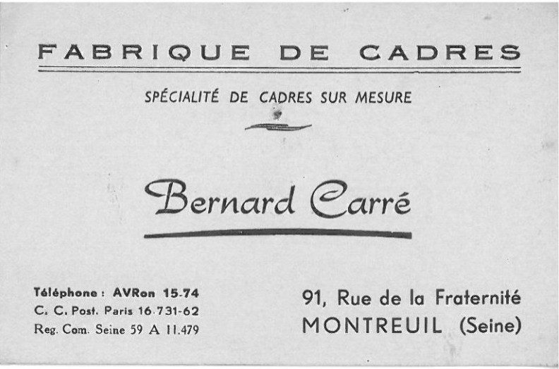B. Carré Adresse.