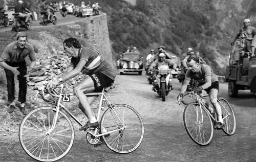 Coppi bei der Tour (04.07.1952).