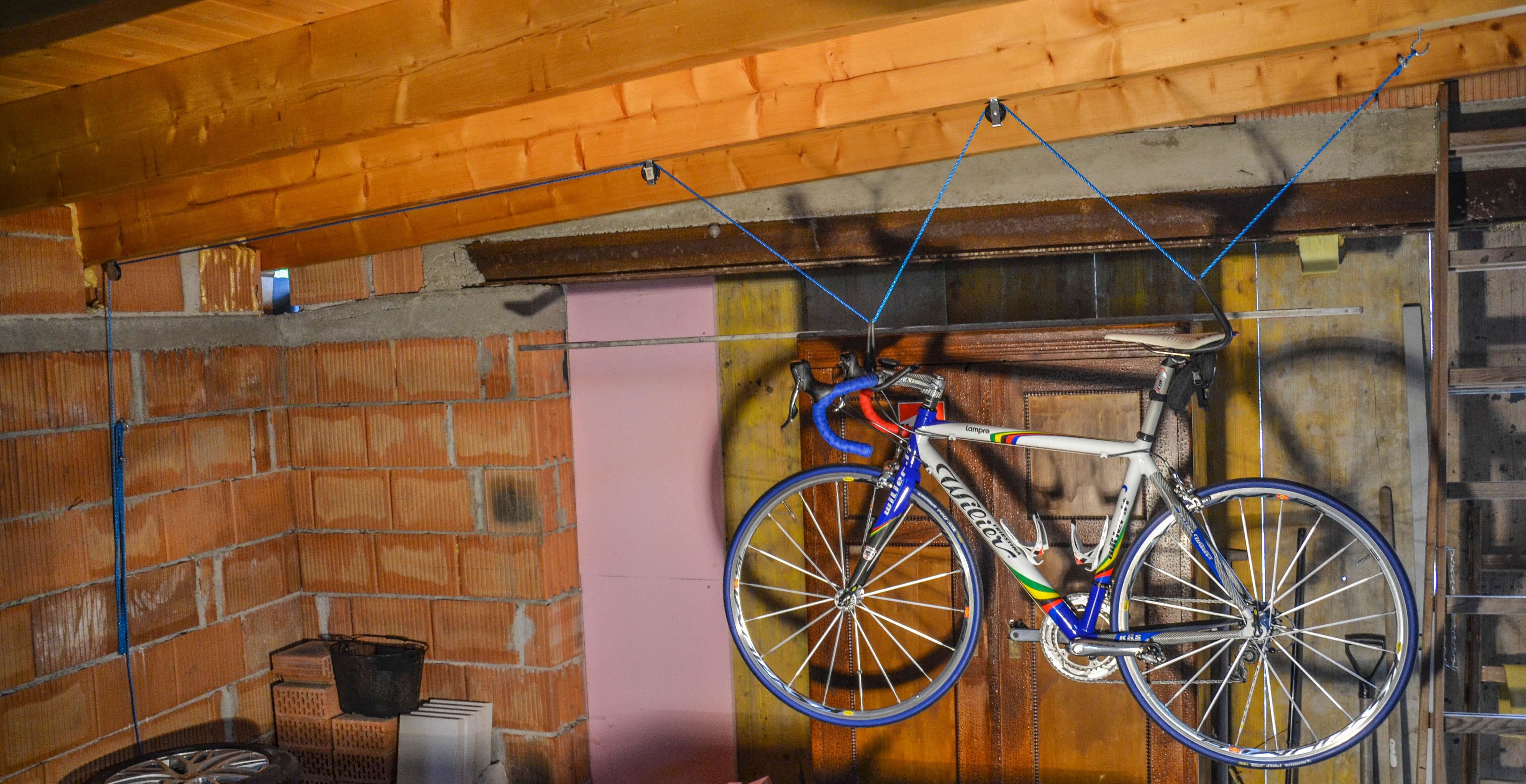 fahrradlift ganz einfach selber bauen rennrad. Black Bedroom Furniture Sets. Home Design Ideas