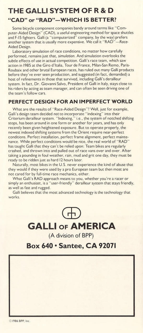 Galli KL serie cambio sistema catalogo 1986.jpg