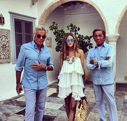 Olivia Palermo , Valentino & Giancarlo Giammetti nell'isola di Hydra - pimp girl.jpg