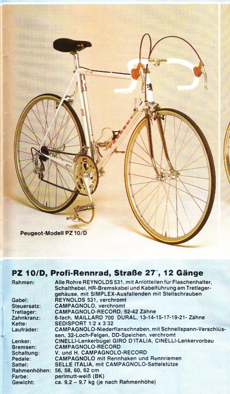 Peugeot 1983 Germany Brochure PZ10, PRO10.