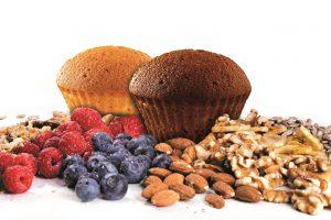 Muffin Chocolate & Vanilla mit Zutaten