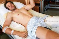 Katusha-Alpecin Fahrer Marco Haller im Krankenhaus