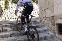 Im Training: Peter Sagan nimmt die Treppe statt Straße
