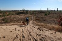 So war's beim Pathfinder Giro CX in Eindhoven: Sehr viel tiefer Sand