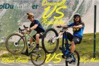 DH-Bike oder Rennrad?: Wyn Masters bezwingt den Col Du Galibier
